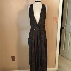 "Vintage 90's ""Friends"" grunge goth vest maxi dress"